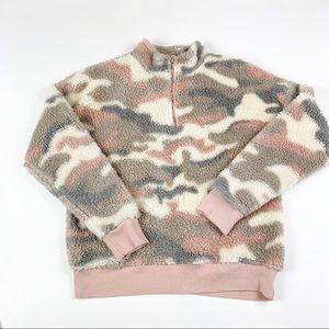 grayson thread Camo light pink teddy style jacket